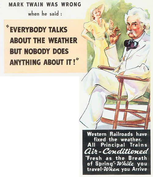 1950s weather poster