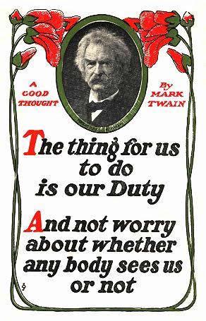 mark twain quotations duty
