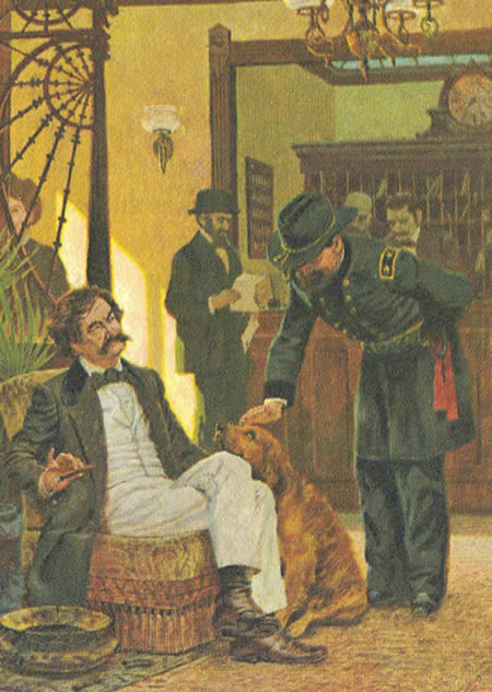 Mark Twain and General Miles
