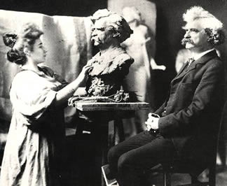 Clemens being sculpted