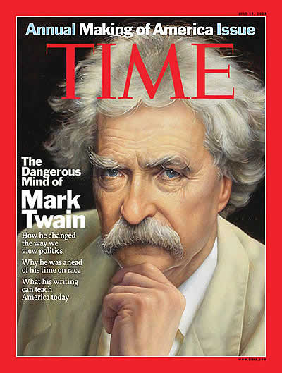 Resultado de imagen para mark twain travel through time