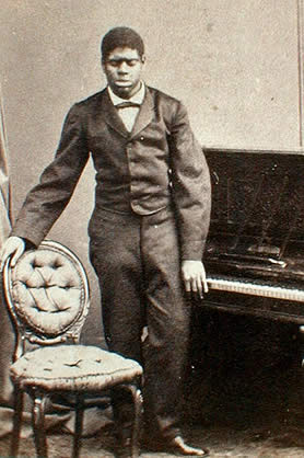 Blind Tom and piano