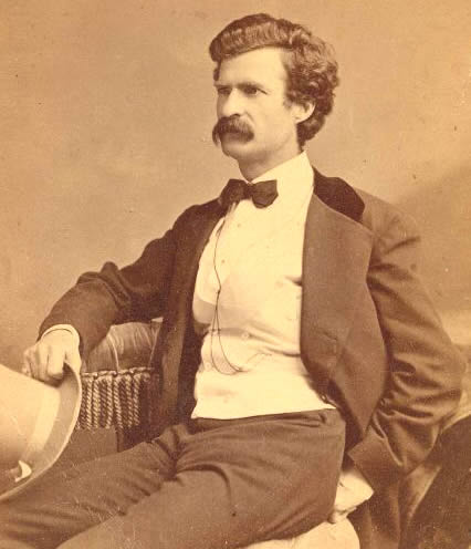 Twain with hat in hand