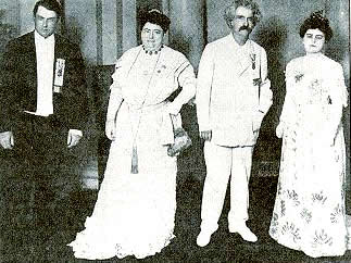 Photo of Twain at Robert Fulton celebration