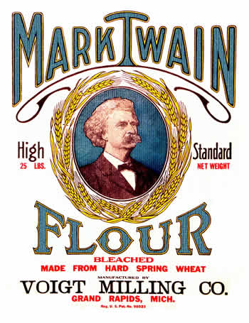 photo relating to Dollhouse Miniature Flour Bag Printable called Mark Twain prices - Flour