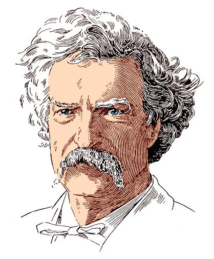 Mark Twain color tint