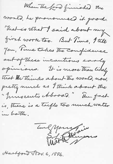 page from letter