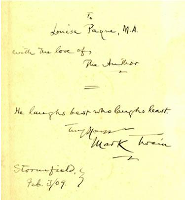autographed inscription
