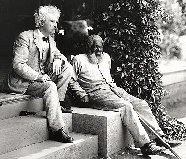 Twain & John Lewis on porch