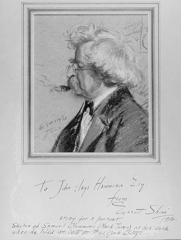 Shinn portrait of Mark Twain