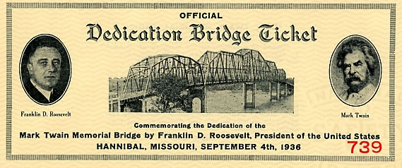 Bridge dedication ticket