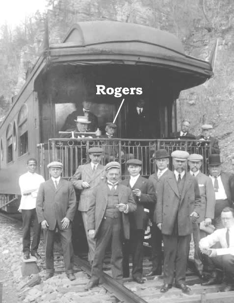 Rogers on board train