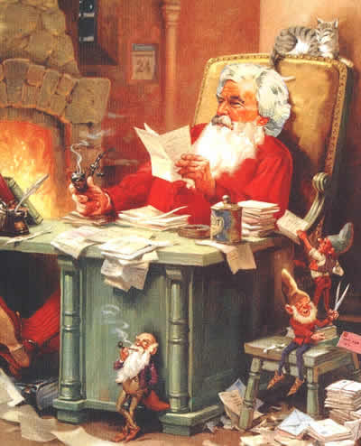 Mark twain letter from santa claus clemens as santa illustration courtesy of dave thomson spiritdancerdesigns Choice Image