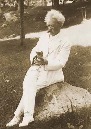 Twain with cat